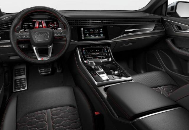 2021 Audi RS Q8 Black Express Red Interior Colors