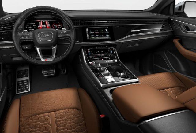 2021 Audi RS Q8 Cognac Brown Interior Colors