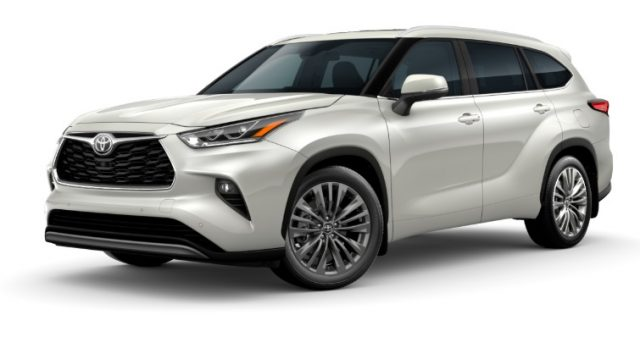 2021 Toyota Highlander Exterior Colors Blizzard Pearl