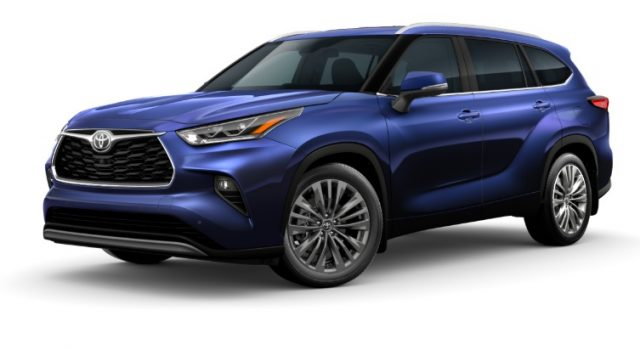 2021 Toyota Highlander Exterior Colors Blueprint
