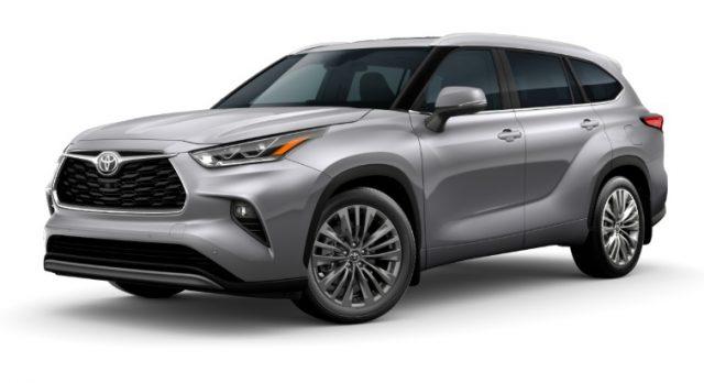 2021 Toyota Highlander Exterior Colors Celestial Silver Metallic
