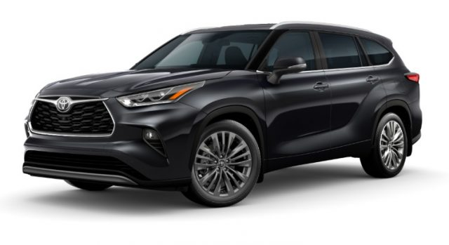 2021 Toyota Highlander Exterior Colors Midnight Black Metallic