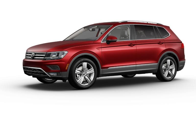2021 VW Tiguan Cardinal Red Metallic Colors