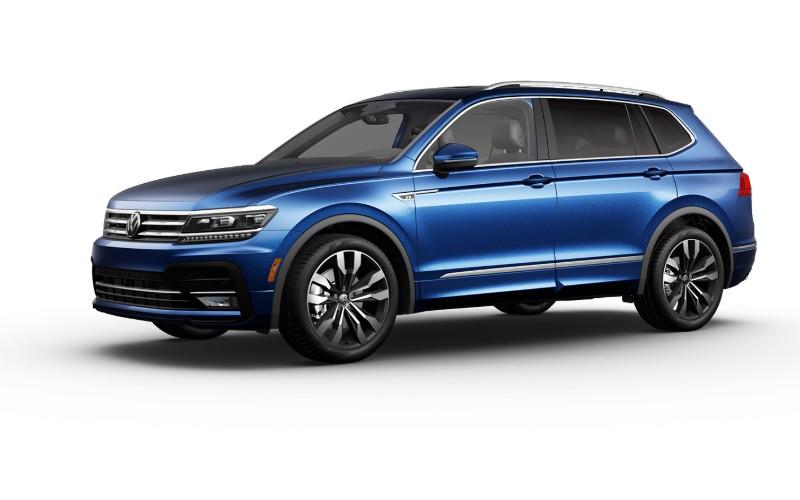 2021 VW Tiguan Silk Blue Metallic Colors