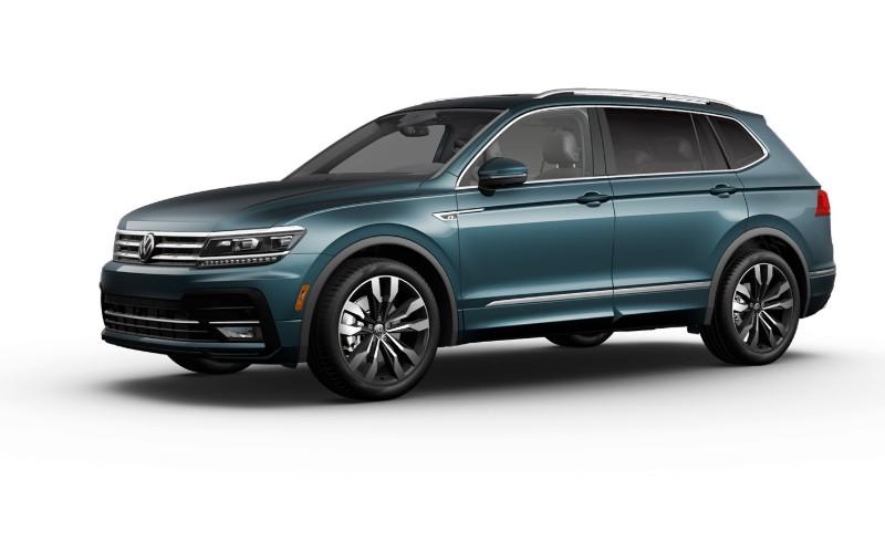 2021 VW Tiguan Stone Blue Metallic Colors