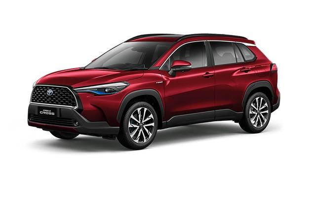 2022 Toyota Corolla Cross Red Mica Metallic Colors