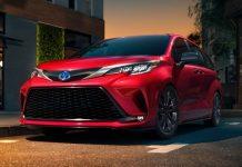 2021 Toyota Sienna Hybrid Exterior Colors