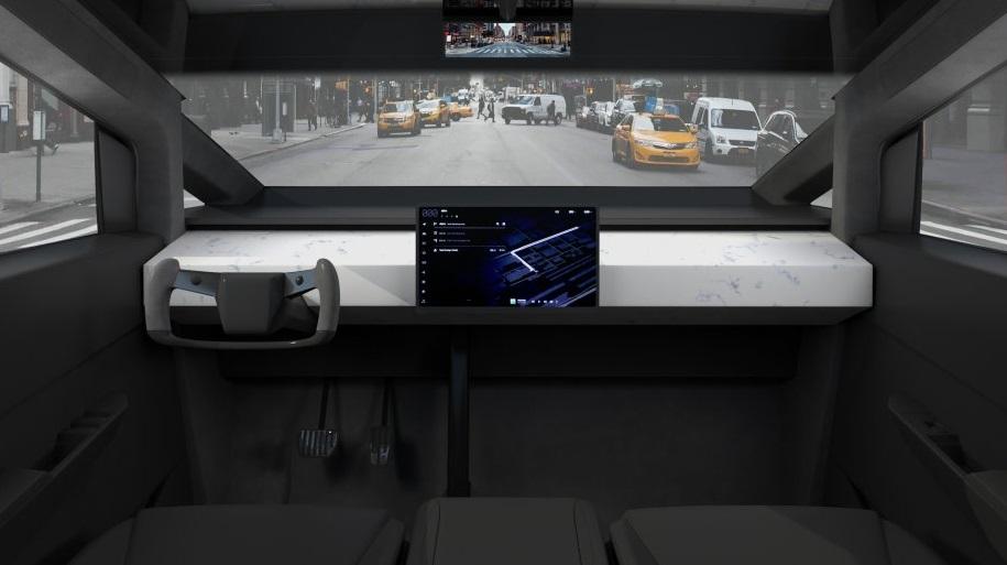 2022 Tesla Cybertruck Interior Dashboard
