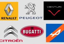 French Car Brands Popular Famous Best